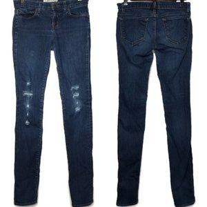 J Brand The Pencil Leg Distressed Skinny Jeans